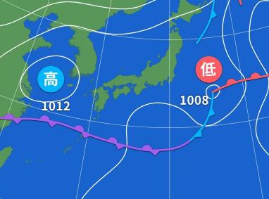 2019/06/01の天気図