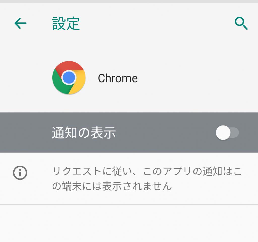 Chromeの設定が通知表示OFFになっていた