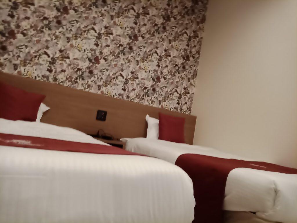 プールリゾート沖縄のベッド