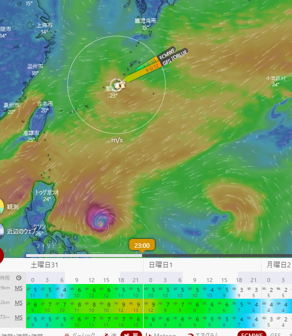 名護湾の週末の天気予報