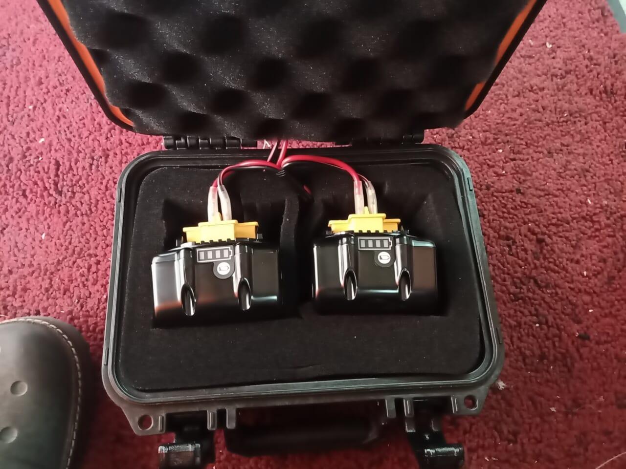 マキタの14.4Vバッテリーで電動リール用のバッテリーを自作